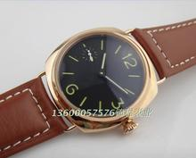 2016 new fashion PARNIS Asian Mechanical Hand Wind movement high quality Rose gold watchcase men watch