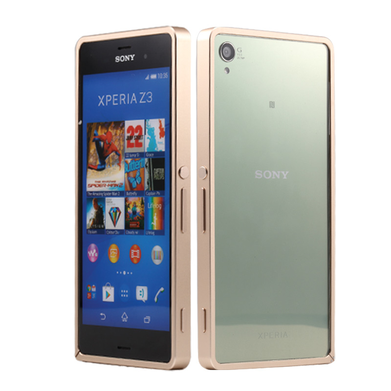 Ultra Thin Metal Aluminum Bumper Sony Xperia Z3 Phone Cover Case Frame - 4 Seasons Technology Co.,Ltd store