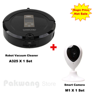 PAKWANG A325 Robot Vacuum Cleaner For Home Fullgo 2 Ways Virtual Wall Wireless Self Charge ROBOT