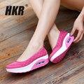 Hkr 2017 primavera plataforma de las mujeres pisos zapatos de las mujeres de malla transpirable zapatos casuales sandalias de plataforma femenina talón zapatos de las señoras 2961