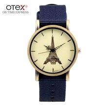 Fashion Sports Men s Wrist Watches Nylon Watchband Top Luxury Male Quartz Clock 2016 New Boy