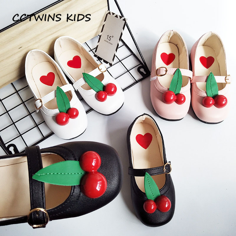 CCTWINS KIDS 2018 Spring Children Pu Leather Mary Jane Toddler Fashion Party Princess Shoe Baby Girl Dance Flat GM1987