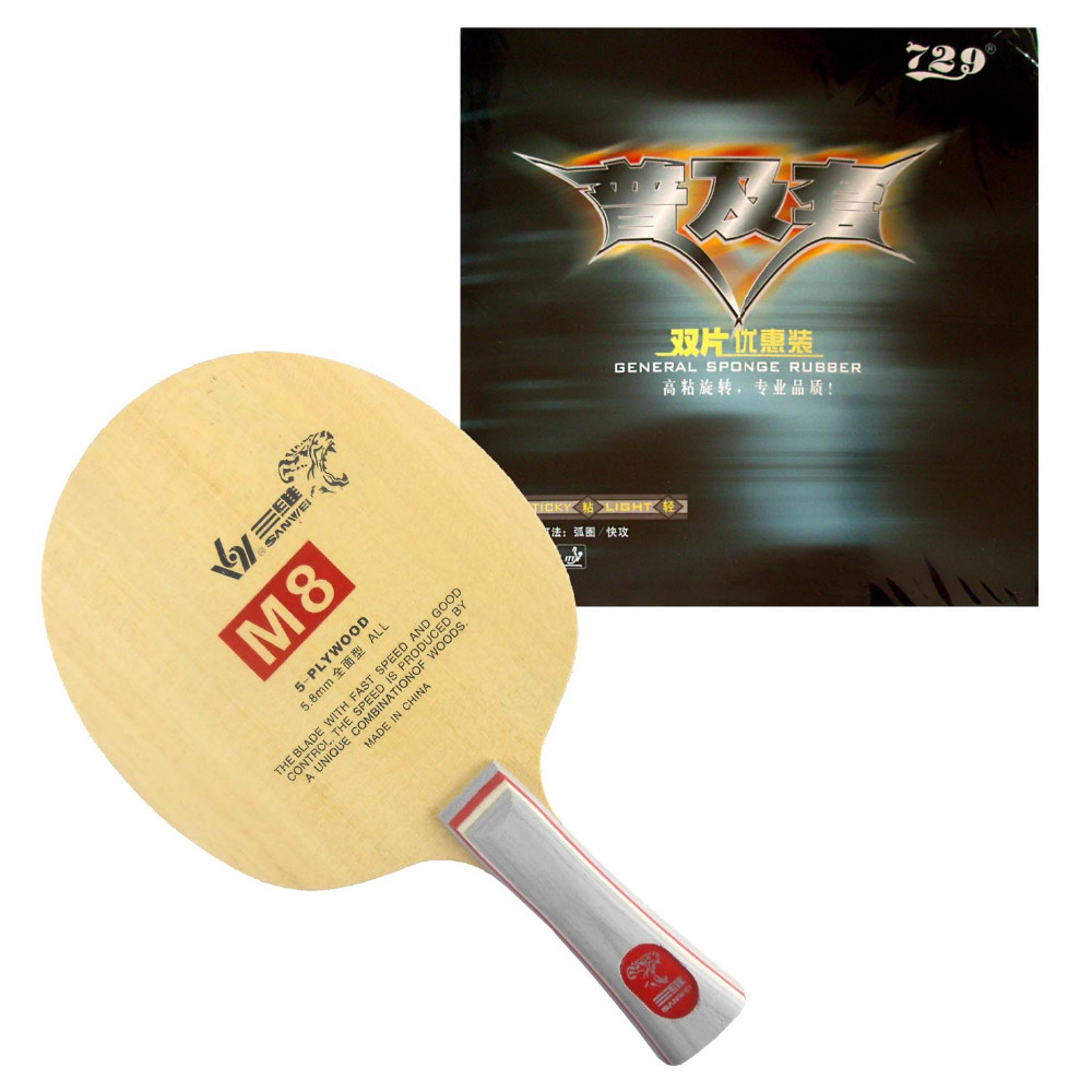 sanwei m8 m 8 m8 with 2x 729 general table tennis