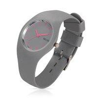 Trendy Women S Stainless Steel Silicone Quartz Wrist Watches DarkGray 255x18mm Watch Head 32x42x9mm