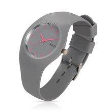 Женщины Силиконовой Лентой Спортивные Часы Модный Бренд MILER Красочные Кварц Браслеты Часы Relógio Feminino