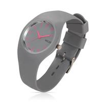 Trendy Women S Stainless Steel Silicone Quartz Wrist Watches DarkGray 255x18mm Watch Head 32x42x9mm