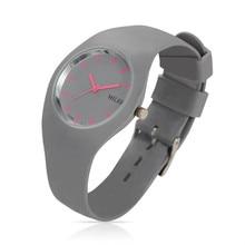 Mujeres MILER Banda de Silicona Reloj Deportivo de La Marca de Moda de Colores Pulseras De Cuarzo Relojes Relogio Feminino