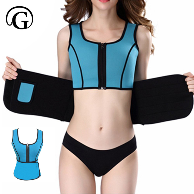 7fd937ae2b PRAYGER 5xl big size women Neoprene Sauna Waist corset control shapers body  building tops Slimming shape wear Adjustable Belt