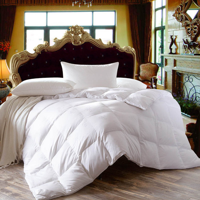 Chpermore Белый гусь/утка пуховые одеяла зима Стёганое одеяло высокое качество хлопковые покрывала Король queen Twin Полный размеры
