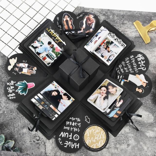 Explosion Box Scrapbooking DIY Photo Album For Valentines