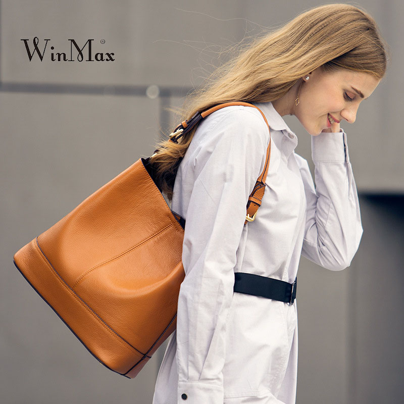 New Casual Tote Bag Women's Genuine Leather Handbags Fashion Shoulder Bag Female Messenger Bag Ladies Bolsa Crossbody Bags sac genuine leather bags ladies real leather bags fashion vintage women handbags casual chain shoulder bag female fashion bolsa 2017