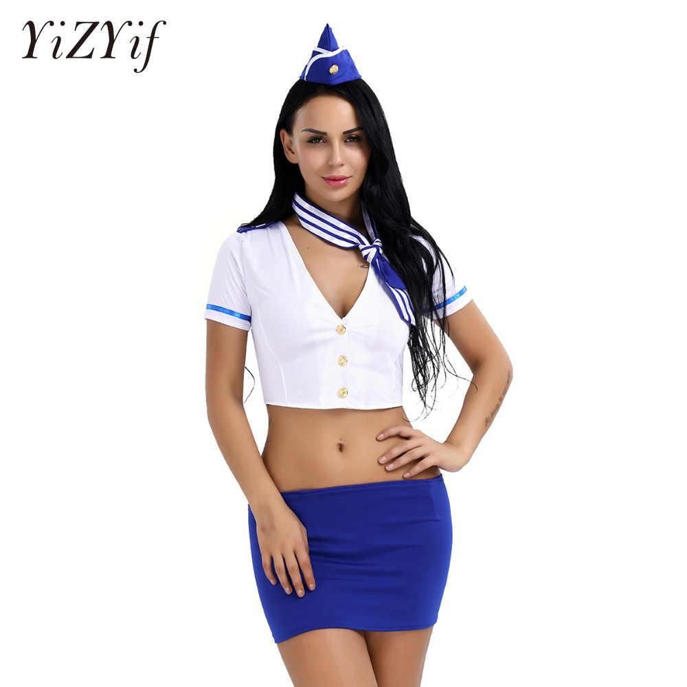 c94b739185b BDSM Sexy Women Lingerie Stewardess Air Hostess Role Play Uniform ...