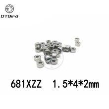 30 шт. 681XZZ миниатюрные подшипники шариковый мини открытый подшипник 1,5x4x2 1,5*4*2 мм