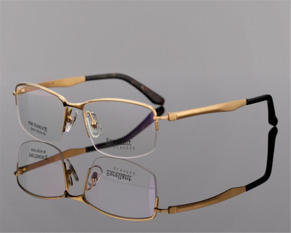 Apparel Accessories Buy Cheap Eyelook New Brand Men Titanium Half Rim Optical Glasses Spectacle Business Gold Silver Frame Myopia Eyeglasses Lb9910 Orders Are Welcome. Men's Glasses