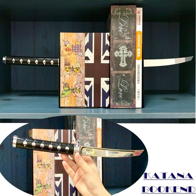 Suporte Para Livros criativo Katana, espada Samurai de Metal Magnético Magnética Organizador da Mesa para a Escola Papelaria Decoração Ninja