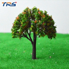 50pcs Model Colorful Trees Train Railway Scenery Layout N Scale Height 8cm