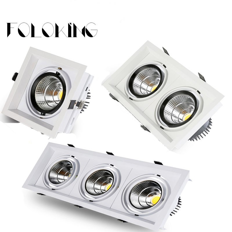 20w Led Dimmable: Super Bright Recessed Square LED Dimmable Downlight COB