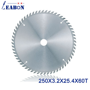 LEABON Woodworking Saw Blade 250x60Tx3.2x25.4mm Wood Circular Saw Blade with Tungsten Carbide Tipped Material Cutting Rose Wood