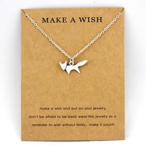Fox Animal Pendants Necklaces Footprints Paw Dragonfly Charm Women Men Girls Boy Unisex Fashion Trendy Jewelry Best Friend Gift
