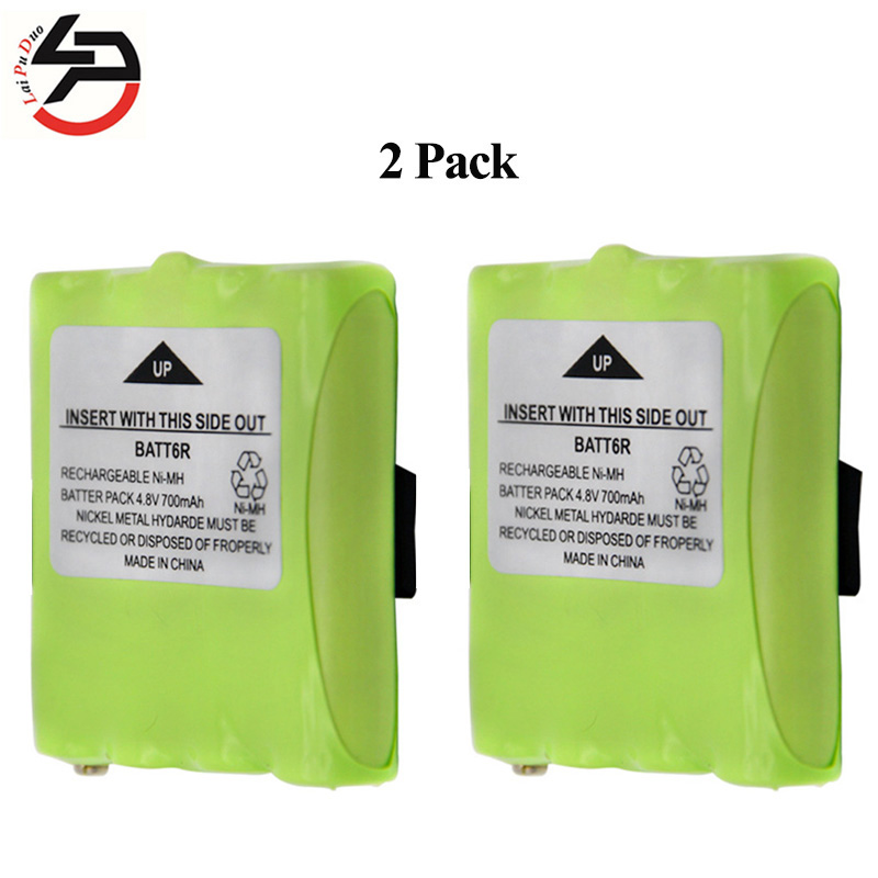 2pcs/lot 4.8V 700mAh NI-MH Rechargeable 2 Way Radio Battery for Midland BATT6R BATT-6R LXT500 ewellsold 2pcs lot 4 8v 700mah ni cd aa battery for rc car