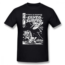 Silver Surfer T Shirt SILVER SURFER JOHN BUSCEMA T-Shirt 6xl Basic Tee Shirt Mens Short-Sleeve Printed Funny 100 Cotton Tshirt(China)