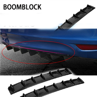 BOOMBLOCK Car Rear Bumper 3D Cool Shark Stickers For Inifiniti Kia Rio 3 K2 Sportage Ceed Ford Fiesta Mondeo Suzuki Swift