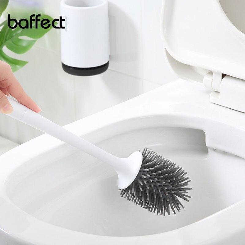 TPR Toilet Brush Head Holder Toilet Brush Head Holders Cleaner Toilet Brush Holder Bathroom Cleaning Tool Holder With Brush antique brass artistic bathroom toilet brush holder
