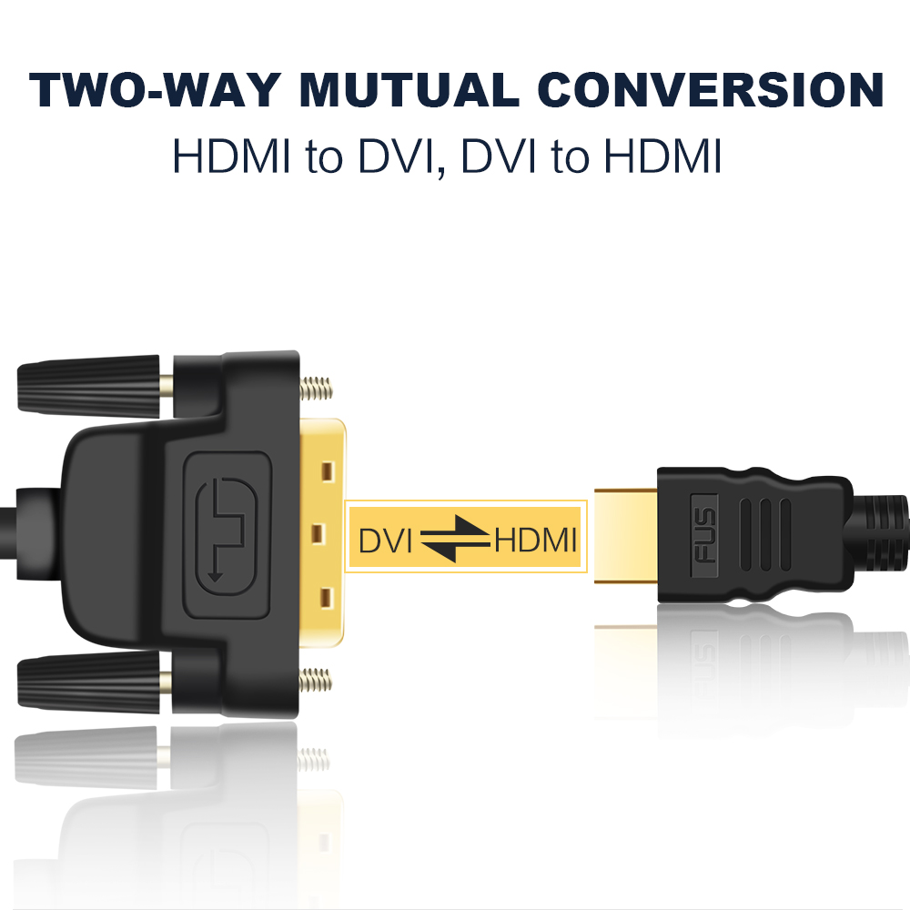 HTB1C0tDa. rK1Rjy0Fcq6zEvVXaI 1080P 3D HDMI to DVI HDMI cable 24+1 pin adapter cables for LCD DVD HDTV XBOX High speed DVI hdmi cable 1M 2M 3M 5M