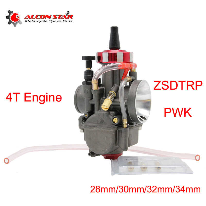 Alconstar ZSDTRP PWK carburateur 4 temps | Carburateur Carb 28mm 30mm 32mm 34mm, moto carburateur 150 - 400cc moteur de course Scooter