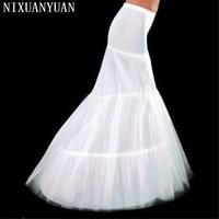 Free Shipping Hot Sale Cheap High Quality Mermaid Petticoat 2 Hoops White Wedding Dress Crinoline 2015