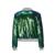 Hdy haoduoyi moda lantejoula zíperes casacos mulheres manga comprida de gola alta outwear feminino sólida verde casacos jaquetas casuais