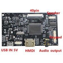 HDMI + Audio 40pin controlador LCD Kit de placa controladora para Panel HJ080IA 01E EJ080NA 04C HE080IDW1 1024*768 android USB 5V