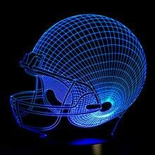 cccb31403aa (Ship from US) American Football Helmet Sports Caps Star 3D Lamp Team Logo Custom  Made Multicolors Lava LED Lighting Night Luminaria Christmas