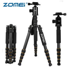 ZOMEI Z699C Carbon Fiber Camera Tripod Stand Lightweight Portable with Ball Head Travel Tripode for Canon Sony Nikon DSLR Camera