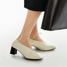 Mode Weichem Leder V Vorne Frauen Pumpen Beleg Auf High Heels Casual Dress Schuhe Frau Platz Zehe Valentine Schuh Zapatos Mujer