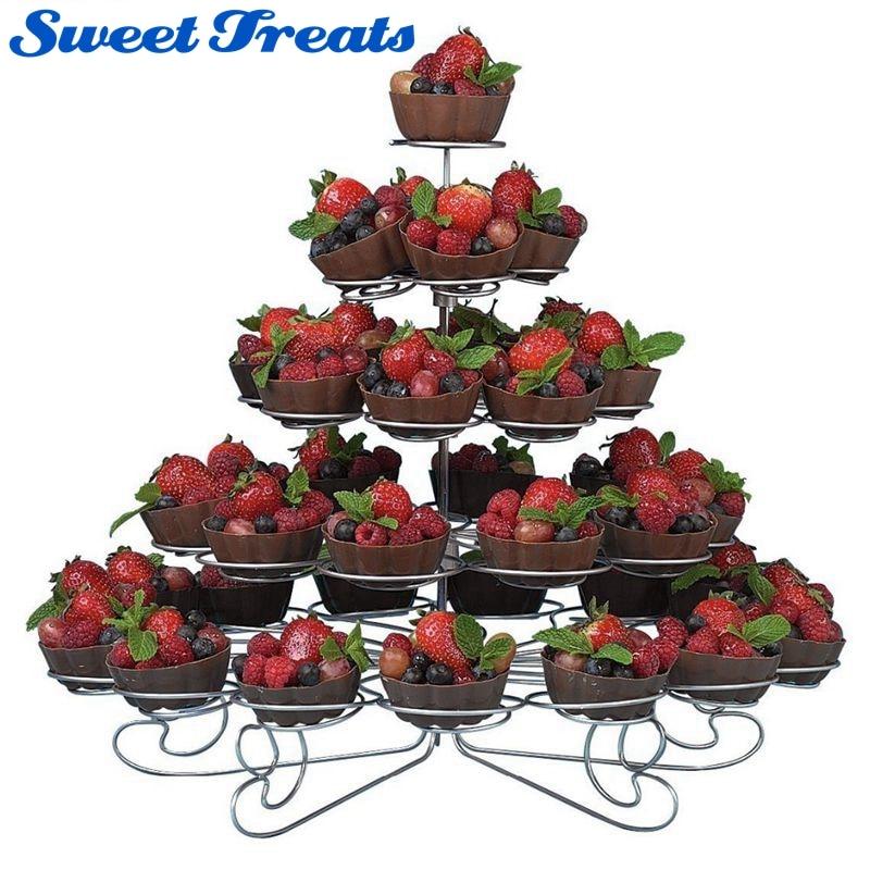 Sweettreats 5 Niveau Cupcake Tower stand tenir 42 petits gâteaux dans Béquilles de Maison & Jardin