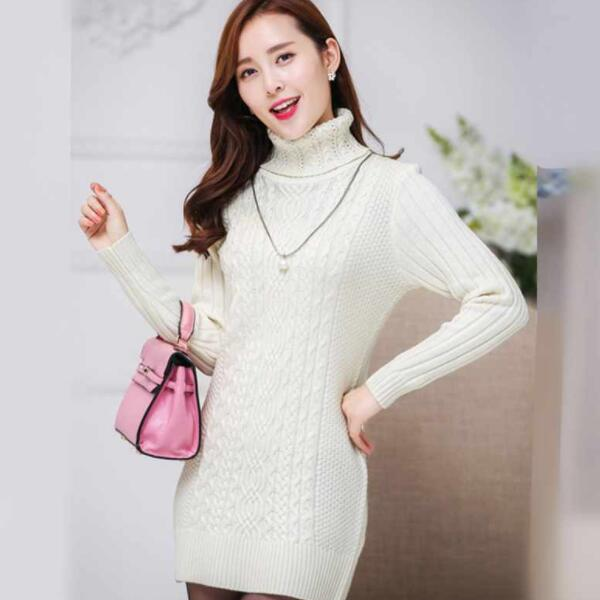 Autumn Winter New Women Turtleneck Warm Sweaters Slim Thick Female Sweater Knitted Slim Pullover Ladies Shirt Clothing DV129