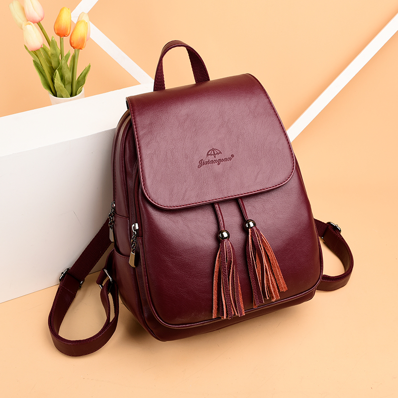 HTB1C0toACBYBeNjy0Feq6znmFXaY Fashion2018 Women Backpacks Women's Leather Backpacks Female school backpack women Shoulder bags for teenage girls Travel Back