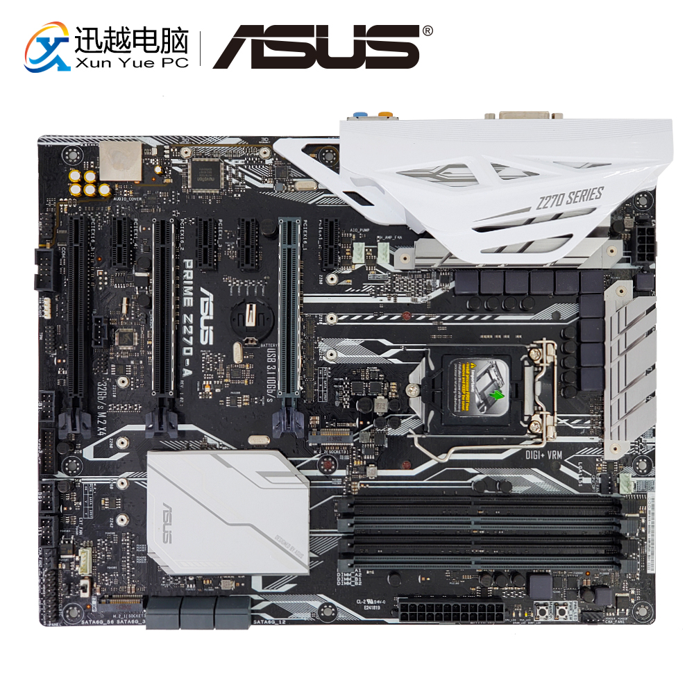 Asus PRIME Z270-A Desktop Motherboard Z270 Socket LGA 1151 i7 i5 i3 DDR4 64G M.2 SATA3 USB3.1 DVI HDMI DP ATX