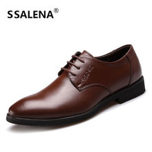 Business Dress Shoes For Men Leather Breathable Wedding Formal Casual Shoes Male Pointed Toe Flats Oxfords Shoes AA10179
