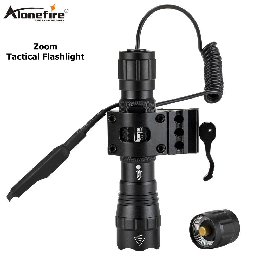 AloneFire Tk503 Tactical IR Led Hunting Light Zoomable Infrared Radiation Night Vision Flashlight+20mm Rail Scope Mount