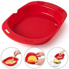 Microwave Oven Silicone Omelette Mold Tool Egg Roll Baking Tray Maker Steamer