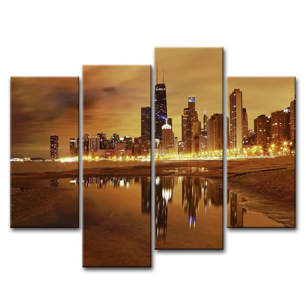 Chicago Home Decor Stores: Canvas Print Wall Art Painting Home Decor Modern City