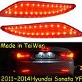 Carro-styling, Sonata luz Quebra, 2011 ~ 2014, levou luz, Livre O navio! 2 pcs, Sonata luz traseira;-car covers, Sonata luz da cauda, Cromo, Sonata YF