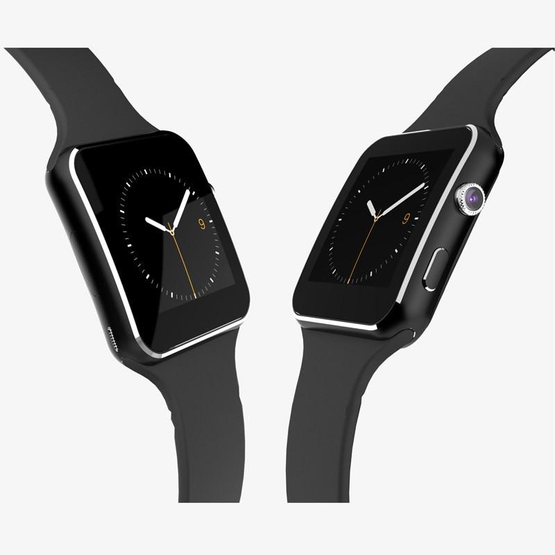 New Smart Watch E6 With Bluetooth Wrist Watch For Android Samsung Huawei Sony Phone English Sim Card Sleep Tracker X6 Smartwatch