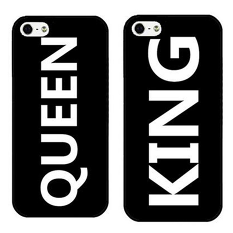 King Queen Crown Phone Accessories Cover Cover for Huawei P6 P7 P8 P9 lite plus 3c 5c 5x h6 mate 8 for Motorola G G2 G3 G4 Plus