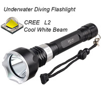 High quality underwater diving torch L2 led diving flashlight waterproof Hunting camping T6 tactical flashlight lamp lantern