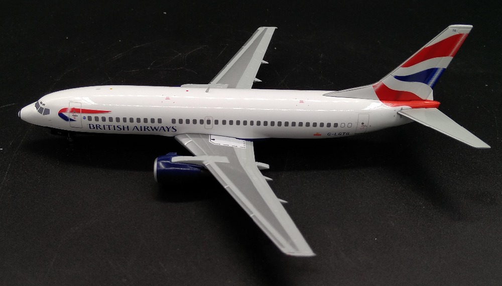 Fine Special offer AV200 1: 200 British Airways Boeing 737-300 G-LGTG Alloy aircraft model Collection model Holiday gifts fine phoenix 1 400 11198 thai airways b787 8 hs tqb alloy aircraft model collection model holiday gifts