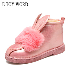 E TOY WORD Women Snow Boots Bow Flat Winter Warm Boots Botas Mujer Plush Women Shoes Slip On shoes for Women New Product