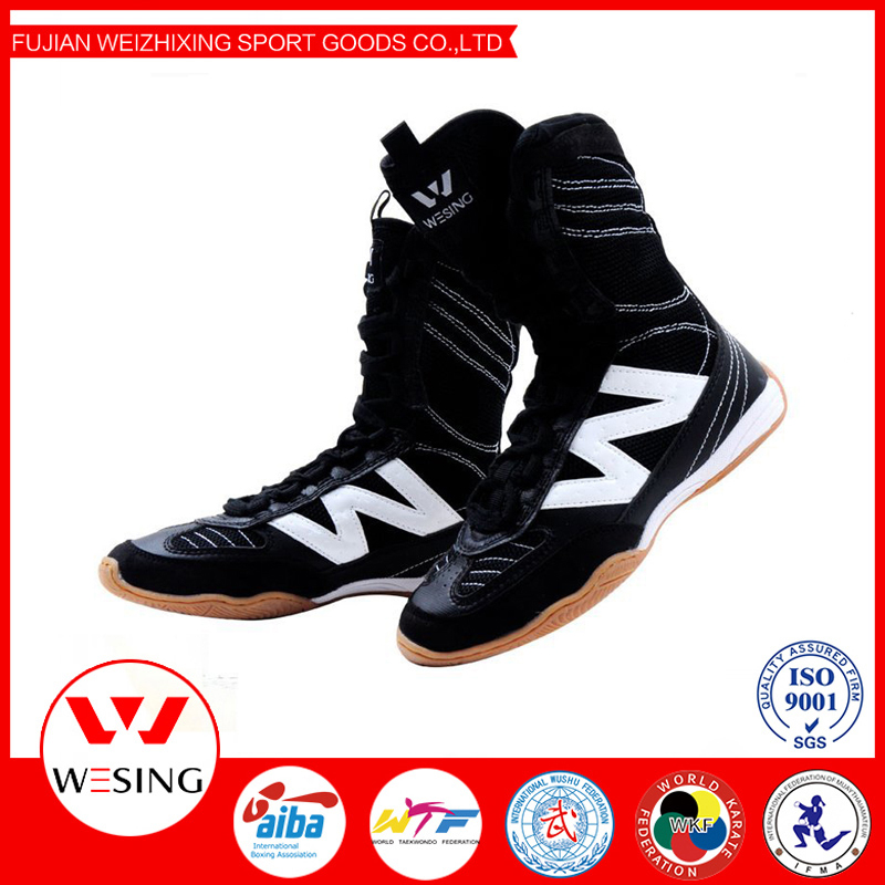Wesing New Men Women Sports Training Shoes Breathable Boxing Taekwondo Fighting Shoes Wrestling Fitness Boots Big Size high quality black boxing shoes men women training shoes sport sneakers professional martial art mma grappling boxing shoes